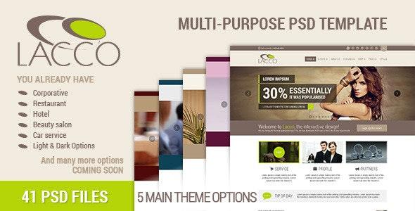 Lacco - Multi-purpose Premium PSD Template - Corporate Photoshop