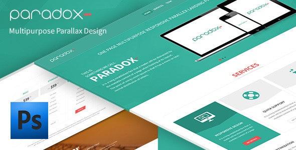 Paradox - Multi-Purpose PSD Landing Page - PSD Templates