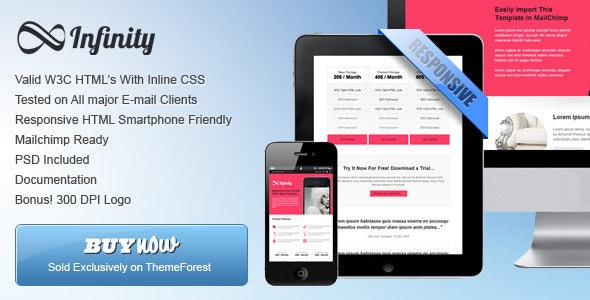 'Infinity' - Flexible Email Template - Newsletters Email Templates