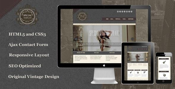 Special - Responsive Vintage HTML5 Template - Portfolio Creative
