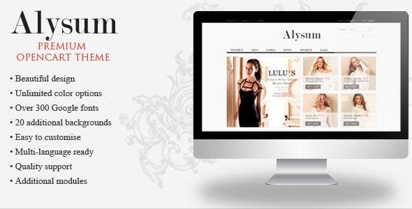 Alysum - Premium OpenCart Theme with Extras - Shopping OpenCart
