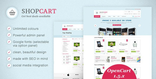 ShopCart - OpenCart theme with powerful options - Miscellaneous OpenCart