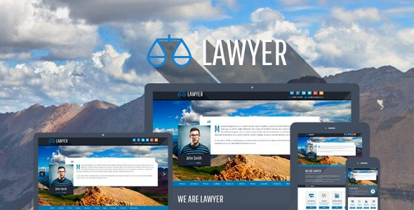 Lawyer - Bootstrap PSD Template - Business Corporate
