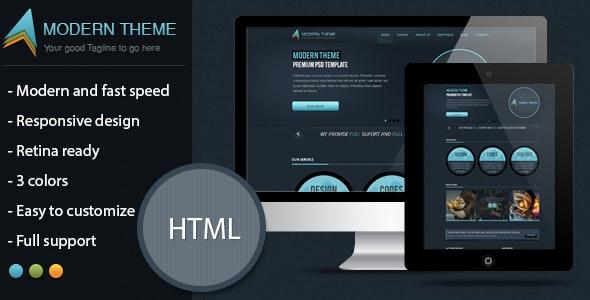 Modern Theme: Responsive HTML5 Retina Template - Corporate Site Templates