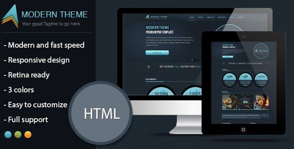 Modern Theme: Responsive HTML5 Retina Template