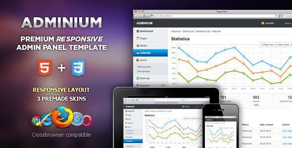 Adminium - Modern Admin Panel Interface - Admin Templates Site Templates