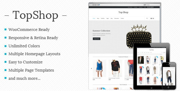 Top Shop - Multi-purpose WooCommerce theme - WooCommerce eCommerce