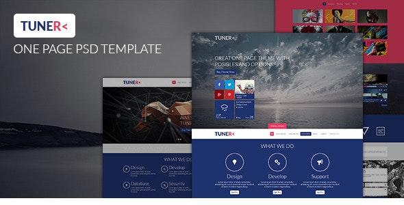 Tuner - One Page Portfolio PSD Template - Portfolio Creative