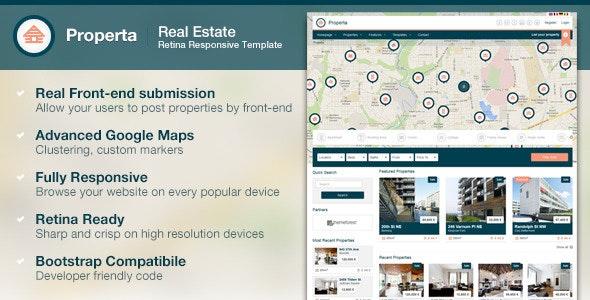 Properta - Real Estate Template - Business Corporate