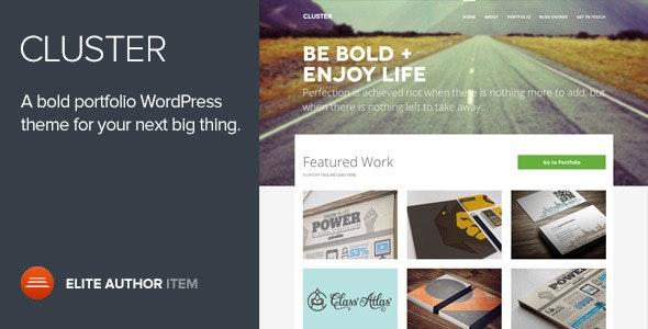 Cluster - A Bold Portfolio Wordpress Theme - Portfolio Creative