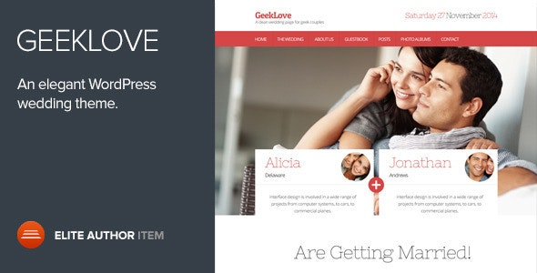 GeekLove - A Responsive WordPress Wedding Theme - Wedding WordPress