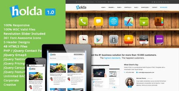 Holda - HTML5 Template - Creative Site Templates