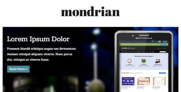 Mondrian - HTML/CSS Facebook Template
