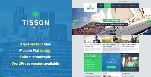 Tisson PSD Template - Business Corporate