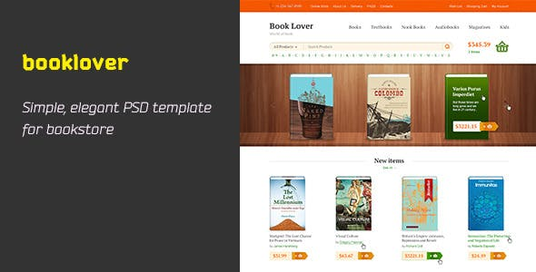 Booklover is PSD Template