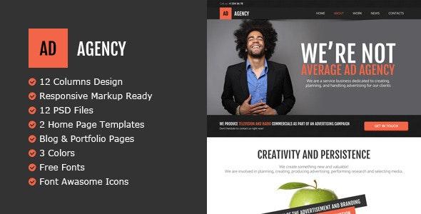AdAgency PSD Template - Creative Photoshop