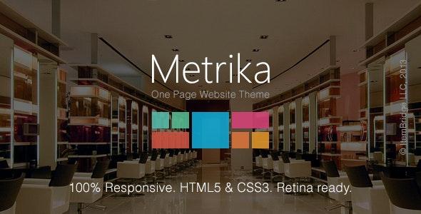 Metrika — Responsive OnePage WordPress Theme - Creative WordPress