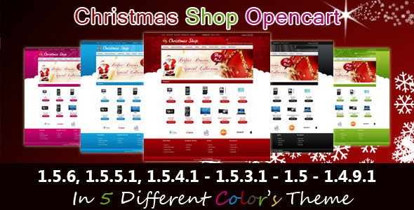 Christmas Shop Opencart Template - Shopping OpenCart
