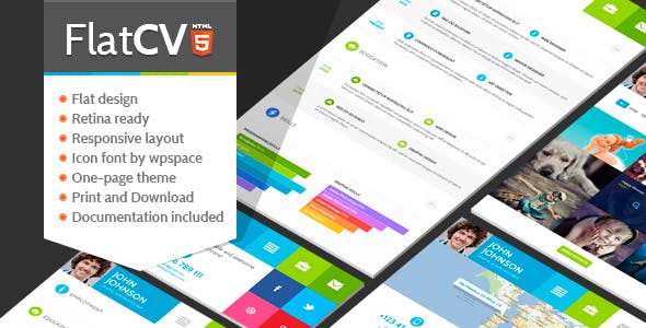 FlatCV - Resume \ Portfolio \ HTML5