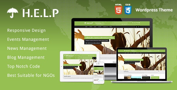HELP - NGO Wordpress Theme - Charity Nonprofit