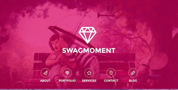 SwagMoment Parallax WordPress Theme