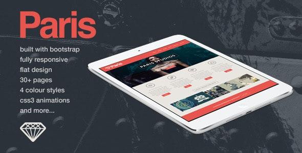 Paris - Responsive HTML5 Template - Portfolio Creative