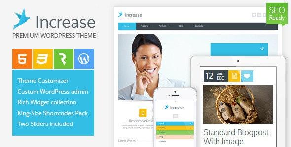 Increase - Premium Business WordPress Theme - Business Corporate