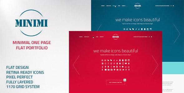 Minimi - Flat Minimalist One Page Portfolio - Portfolio Creative
