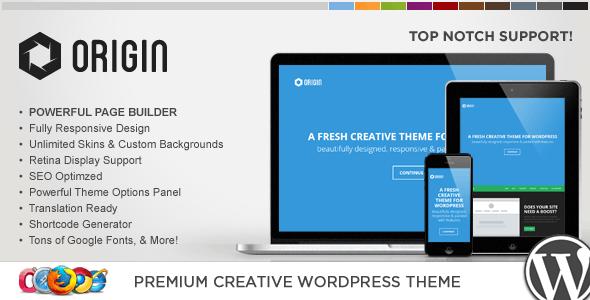 WP Origin Responsive Creative WordPress Theme - Portfolio Creative