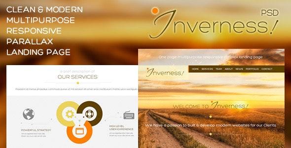 Inverness - Multi-Purpose PSD Landing Page - Photoshop UI Templates