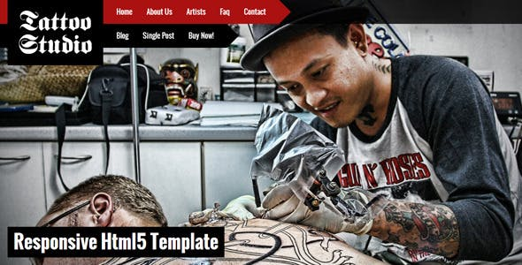 Tattoo Studio - Responsive HTML5 Template