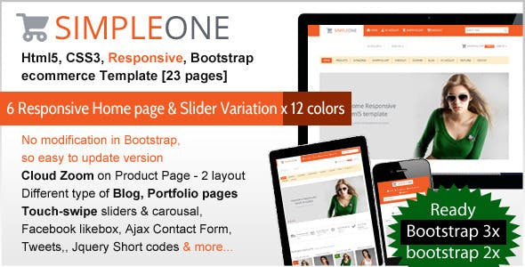 SIMPLEONE - Html5 Responsive ecommerce Template