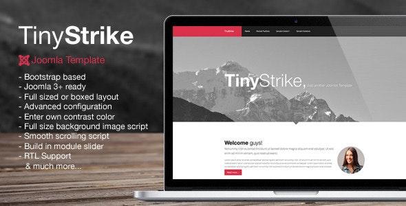 TinyStrike - Multipurpose Joomla Template - Creative Joomla