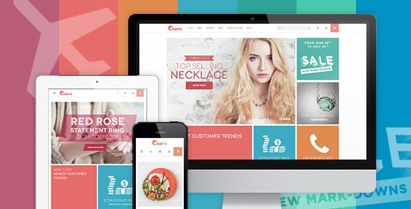 Crafts - Responsive  theme for handmade or accessories store - Miscellaneous Magento
