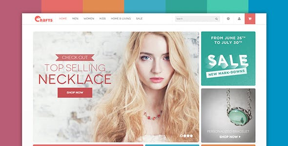Crafts - Responsive  theme for handmade or accessories store