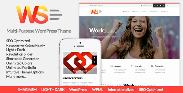 WorkSpace Multi-Purpose WordPress Theme - Corporate WordPress