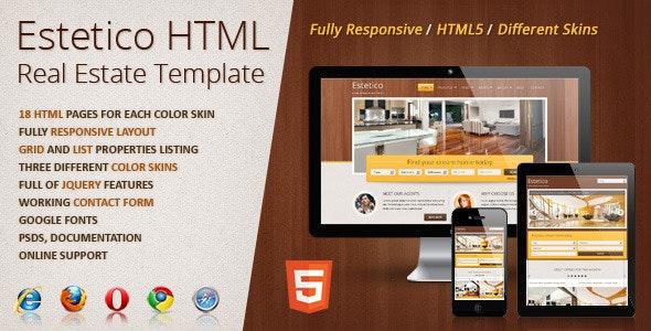 Estetico Real Estate HTML Template - Business Corporate