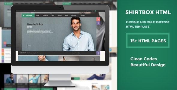 ShirtBox - Flat Design & Multipupose Template - Creative Site Templates