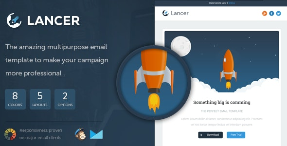 Lancer - Responsive Email Template - Email Templates Marketing