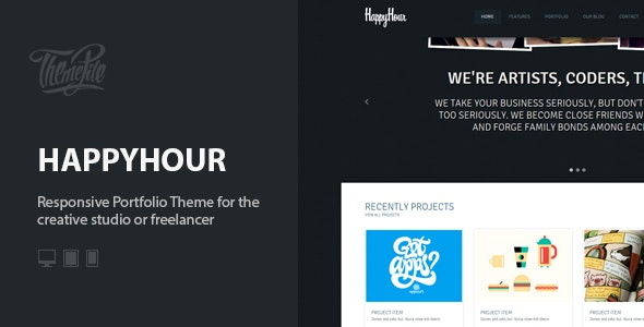 InHappyHour: Responsive Portfolio WordPress Theme - Creative WordPress