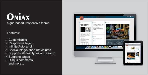 Oniax - Responsive Tumblr Theme - Tumblr Blogging
