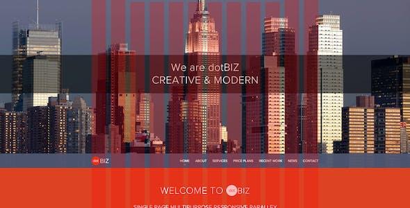 dotBIZ   Multi-Purpose Parallax PSD Landing Page