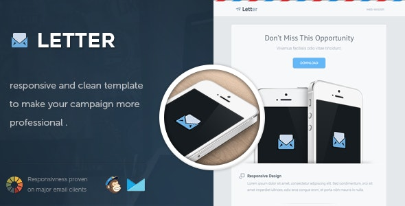Letter - Responsive Email Template - Email Templates Marketing