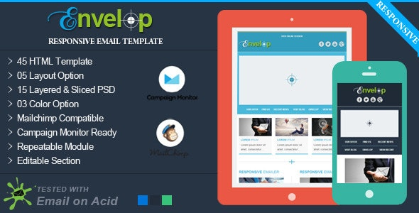 Envelop - Responsive Email Template - Email Templates Marketing