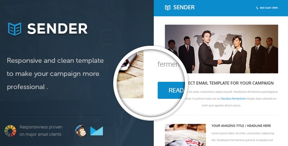 Sender - Responsive Email Template - Email Templates Marketing