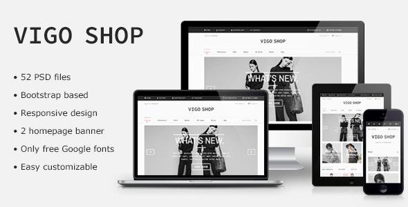 Vigo Shop - Responsive Bootstrap eCommerce PSD - Retail Photoshop