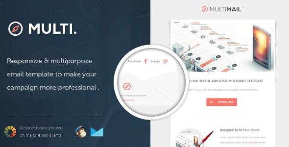 MultiMail - Responsive Email Template - Email Templates Marketing