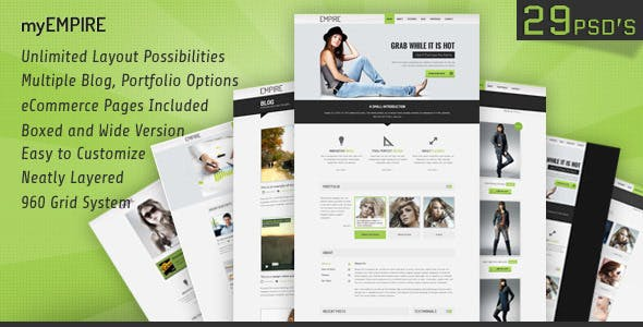 myEmpire - Business Portfolio, Shop PSD