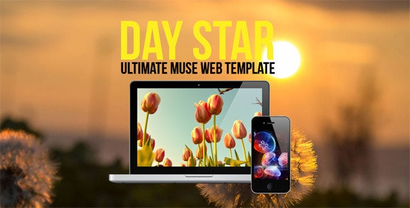 Day Star One Page Muse Template - Creative Muse Templates