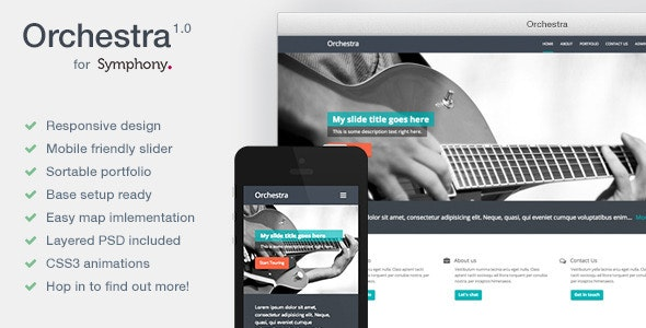 Orchestra - Resposive Symphony CMS Theme  - Miscellaneous CMS Themes